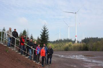 Schwarzwaldverein besucht Bürgerwindpark Südliche Ortenau
