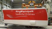 Gondel Bürgerwindpark Südliche Ortenau